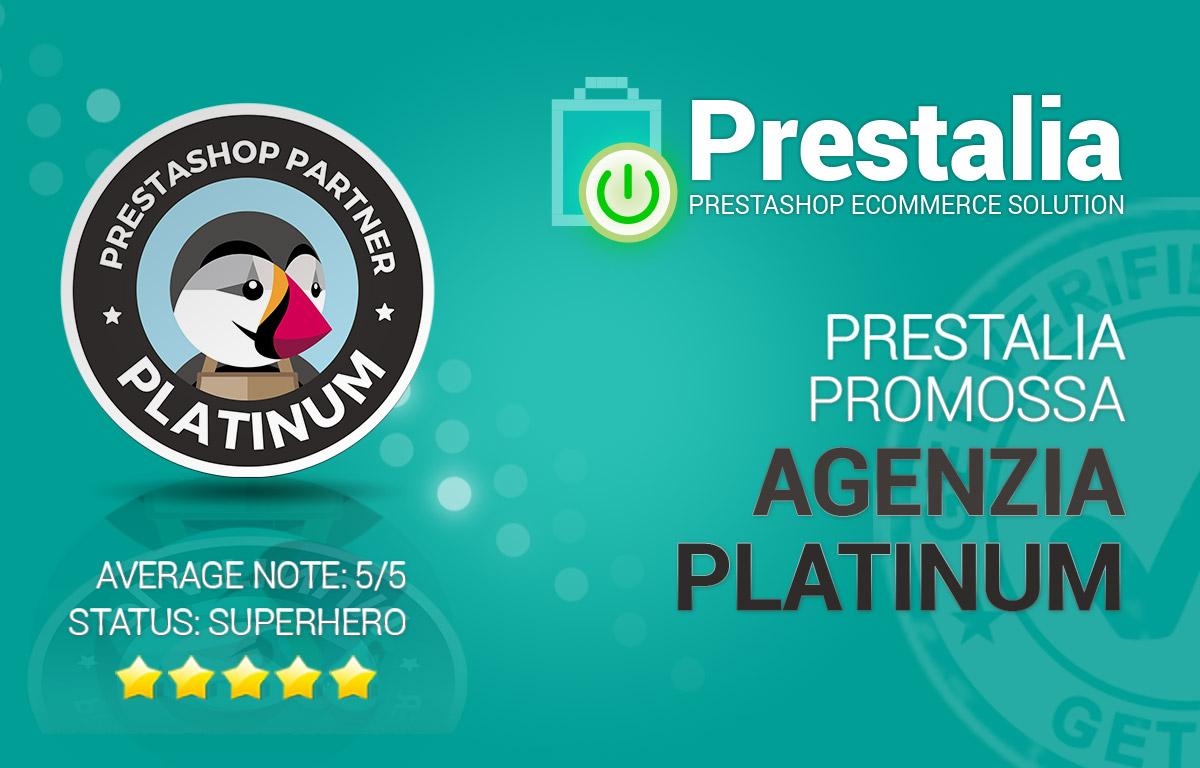 Prestalia promossa agenzia Platinum Prestashop
